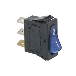 Blue Single-Pole Switch 16A 250V GBG