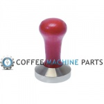 Quality Italian Made Red Flat Tamper 57mm by Motta